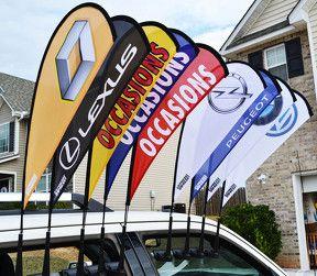 car wing flashy flag