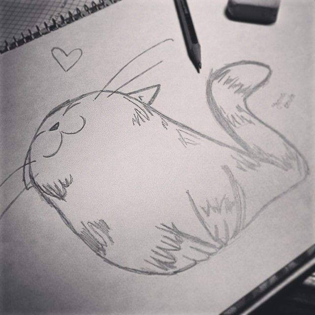 Martinha, como me pediste, um gato para uma gata  Espero que gostes linda... ✏️ #cat#draw#nanadrawcollection#collection#gift#catdraw#drawing#black#blackandwhite#marta#cute#simples#weekend#home#friend