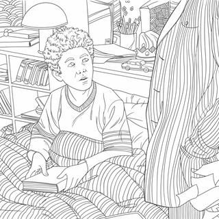 """The Princess Bride: A Storybook to Color  Color you way through Florin to the Fire Swamps and back again,with The Princess Bride: A Storybook to Color! Just in time for the 30th anniversary of the beloved film, this adult coloring book features brand-new artwork by Rachel Curtis to enjoy and color """"as you wish."""""""