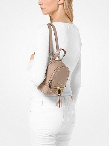2aab594bf92c Rhea Mini Studded Leather Backpack. Rhea Mini Studded Leather Backpack  Fashion Backpack, Michael Kors ...
