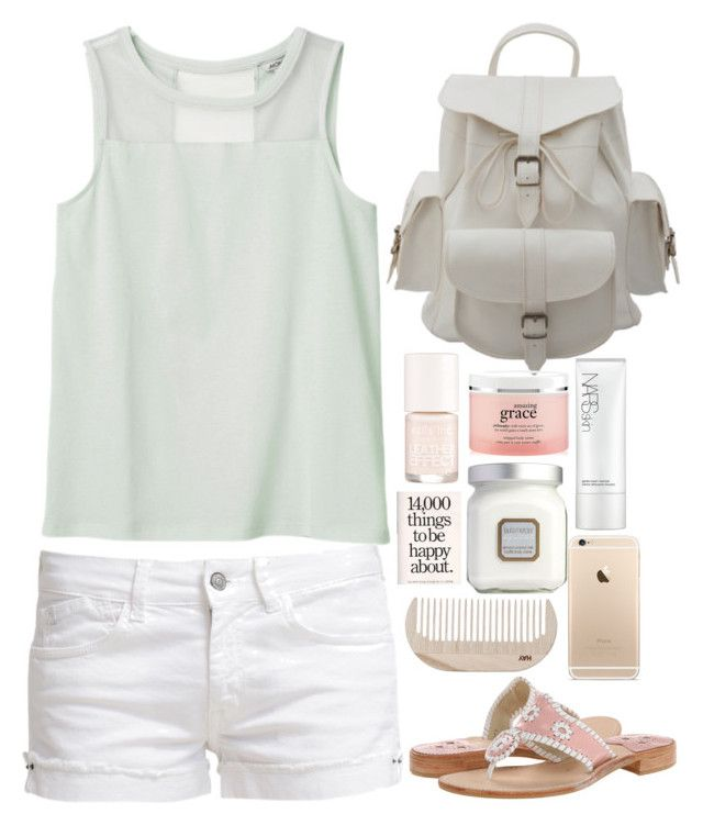 """""""Outfit!"""" by medevitt22 ❤ liked on Polyvore featuring Monki, Nails Inc., NARS Cosmetics, philosophy, Laura Mercier, HAY, Jack Rogers, Le Temps Des Cerises and Outfitsbymaddie"""