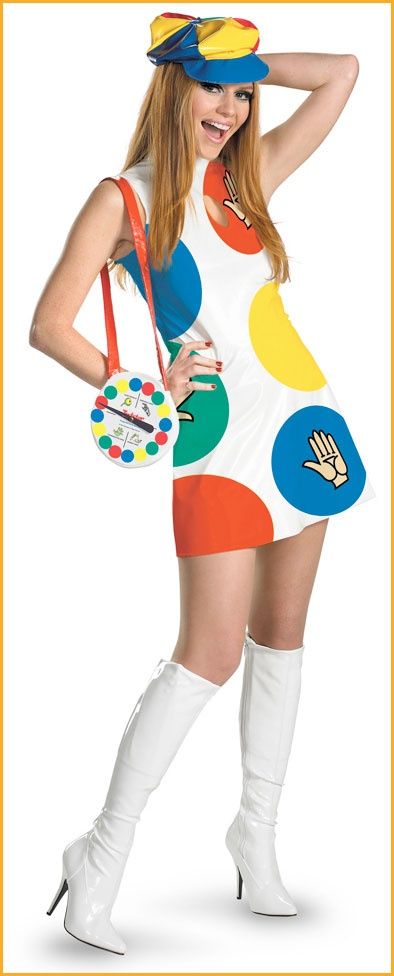 womens twister game halloween costume halloweencostumes4ucom 4900 - Clever Women Halloween Costumes