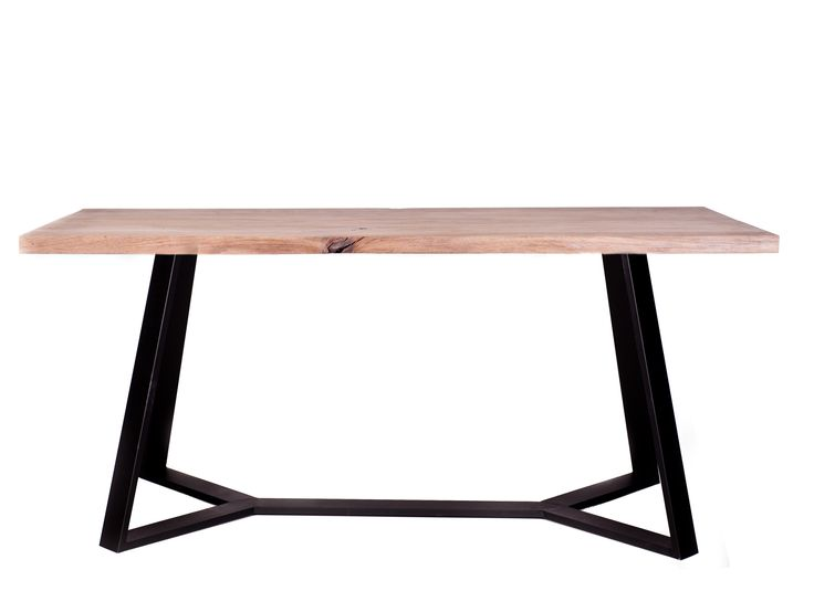 Dinning table with wooden tabletop and steel base #table #dinningtable #dinningroom #design #designtable #woodentable #oakwood #solidwood #wood #steel #interior