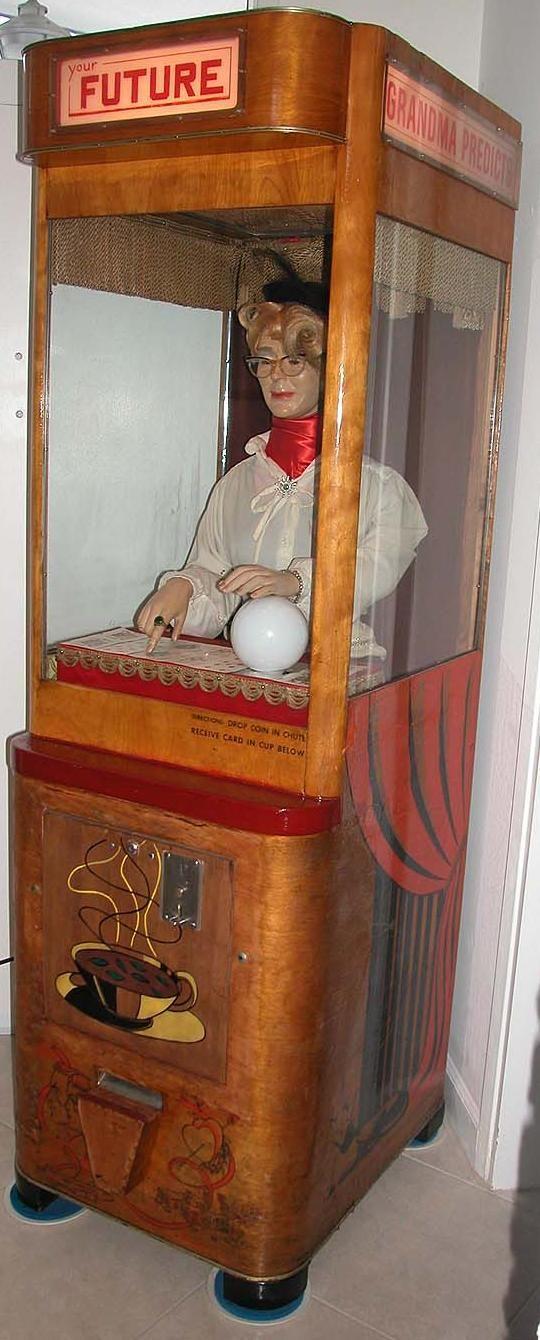 Mike Munves Grandma Prophesies Grandma Predicts fortune teller coin operated arcade game