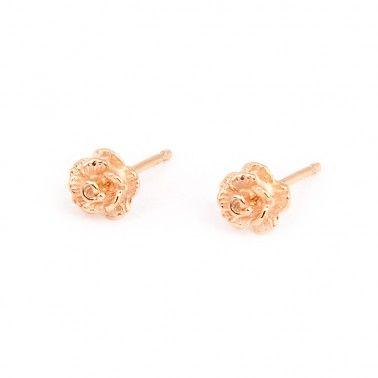 The prettiest rose stud earrings in 18ct rose gold vermeil.  ROSE STUDS - 18ct rose gold vermeil £47.