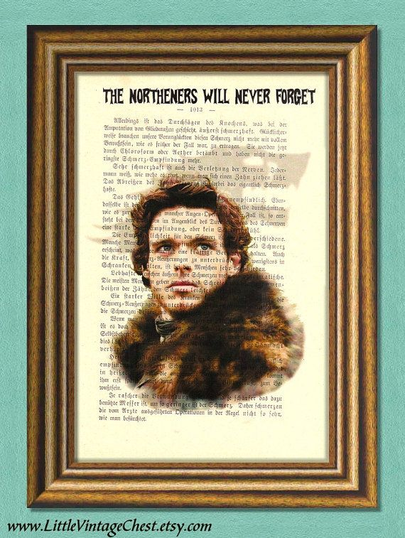 Game of Thrones ROBB STARK   Dictionary Art by littlevintagechest
