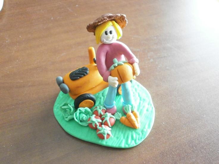 Cake topper for a Farm Girl