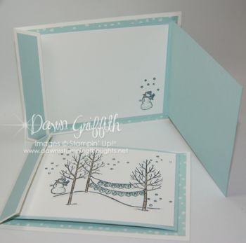 White Christmas Fun Fold Card & Video