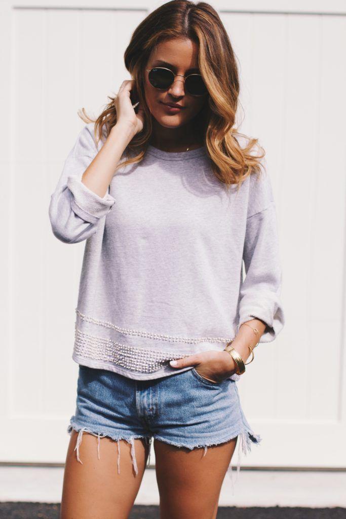 french knot sweatshirt