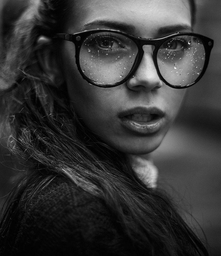 woman rain photo glasses portrait photography. Black Bedroom Furniture Sets. Home Design Ideas