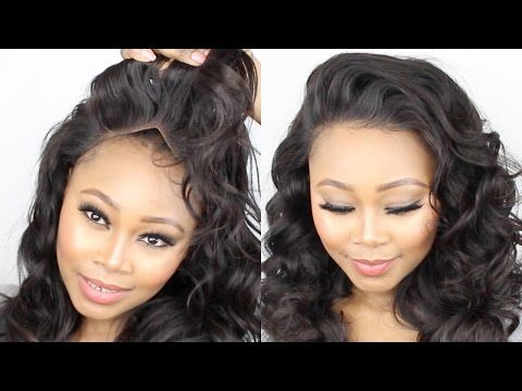 How To Make A Frontal Wig Tutorial || Start To Finish || No Glue! No sewn! NO Hair Out! BEGINNERS. - YouTube