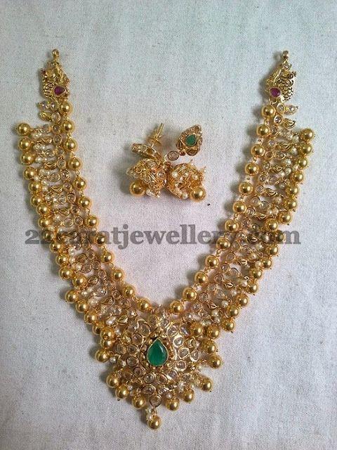 Uncut Diamonds Gold Balls Set