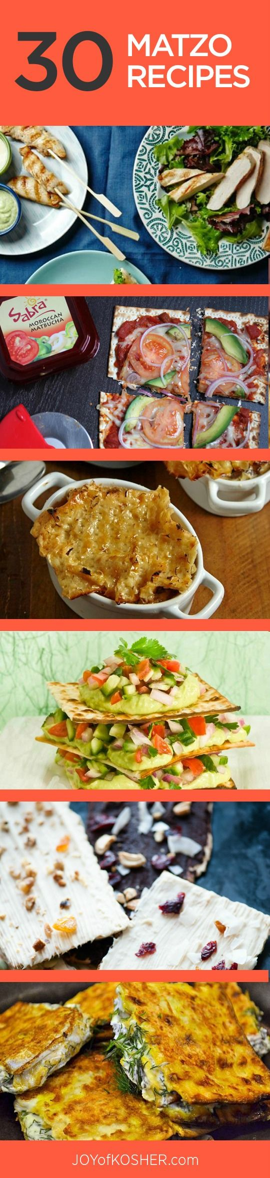 30 Matzo Recipes - What to do with lotsa matzo