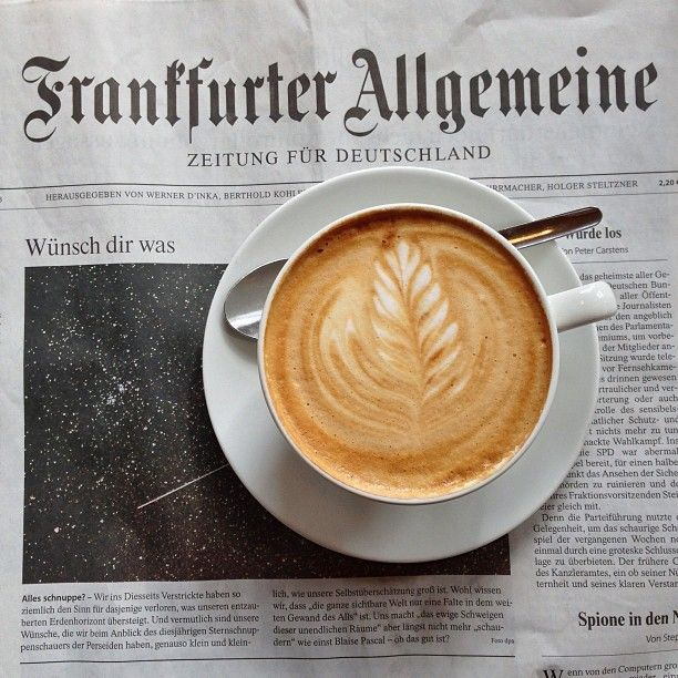 """thursdaywithcoffee:  Franfurter General: Newspaper for Germany """"Make a wish"""""""