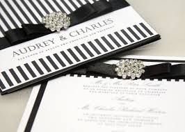 Black And White Striped Wedding Invitations   Google Search