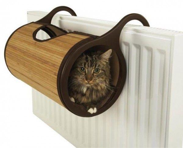 暖房器具に引っかける、あったかバンブー猫ベッド - 猫ジャーナル