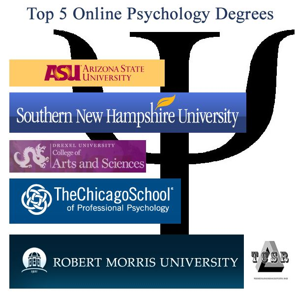 Top 5 online psychology degrees.