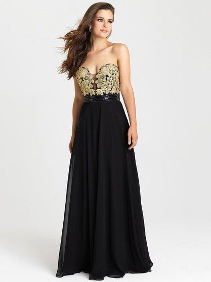 Modest Sweetheart Chiffon Appliques Lace Multi Colours Floor-length Formal Dress #Formal020101097