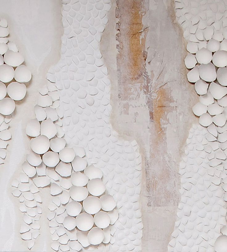 Unfinished Poem – White Abstract Painting - Eggs for your nest by Anca Gray