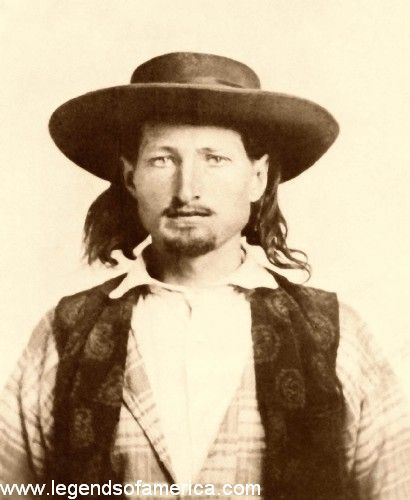 """James Butler Hickok had not yet earned the nickname of """"Wild Bill"""" when this photo was taken in 1858. He was just 21 years old."""