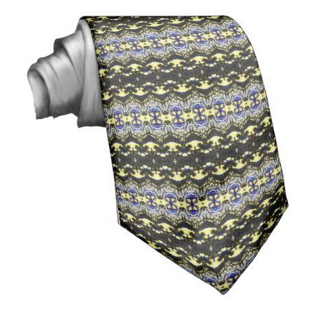 Unique abstract pattern necktie