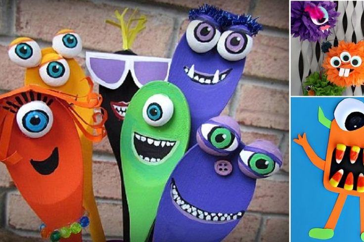 16 magnifiques bricolages de monstres à faire avec les enfants!