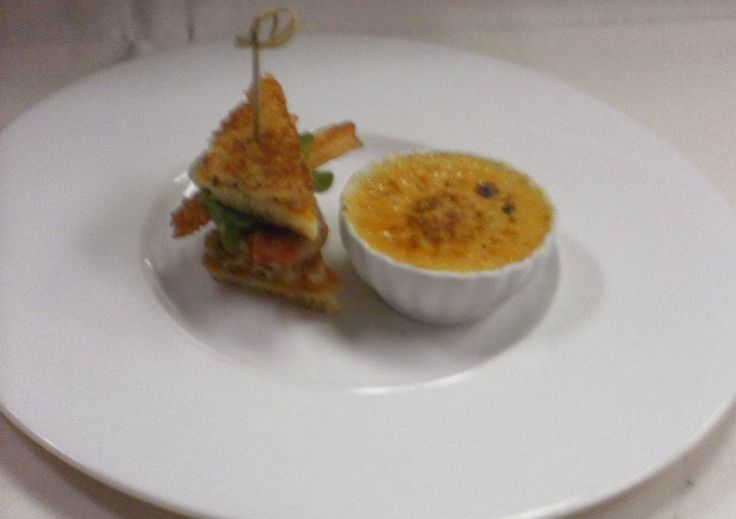 "Duo of Foie Gras; Creme Brulee  ""Club Sandwich"""