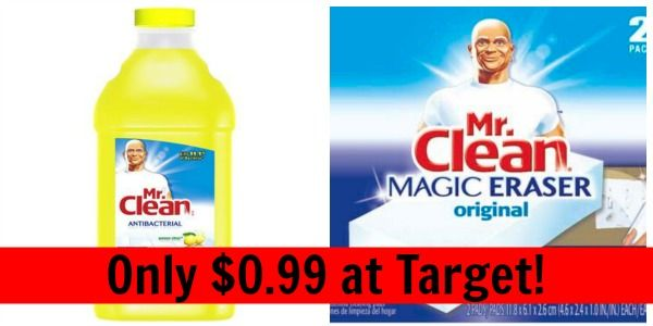 Target: Mr. Clean Magic Erasers and Mr. Clean All Purpose Cleaner Only $0.99!