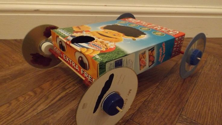 how to make a cereal box car 2