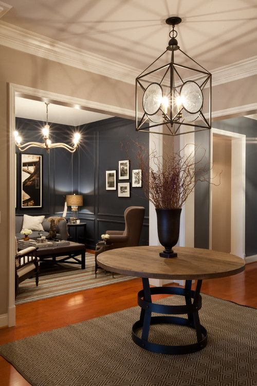 Dramatic Foyer Lighting : Best ideas about round entry table on pinterest
