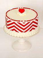 Red Chevron Cake