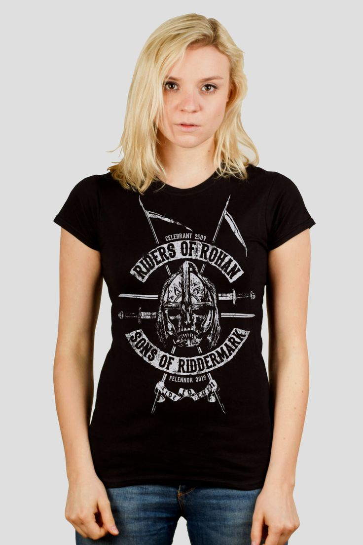 Riders of Rohan - Tolkien / Lord of the Rings inspired Ladies t-shirt screen printed by hand (82.00 PLN) by GrumpyGeeks