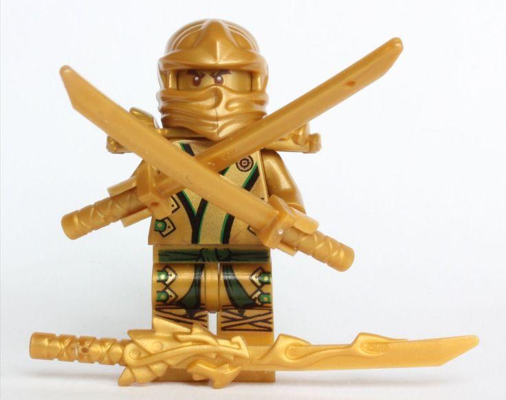 Lego ninjago the gold ninja with 3 weapons - Lego ninjago d or ...