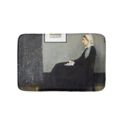 #JAMES WHISTLER - Arrangement in gray and black Bath Mat - #Bathroom #Accessories #home #living
