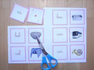 Les Montessouris: Série rose Montessori dictée muette à télécharger