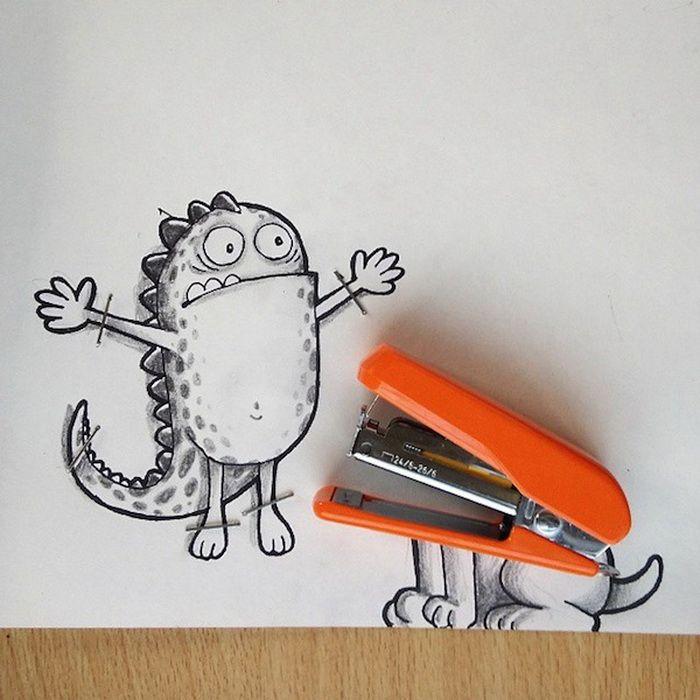 Для доченьки, картинки смешные рисунки карандашом для