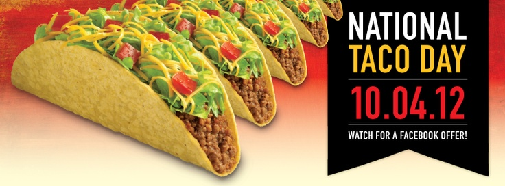 Get excited for National Taco Day! Celebrate with Taco Bueno!    Check out their Facebook Page at facebook.com/buenoheadquarters