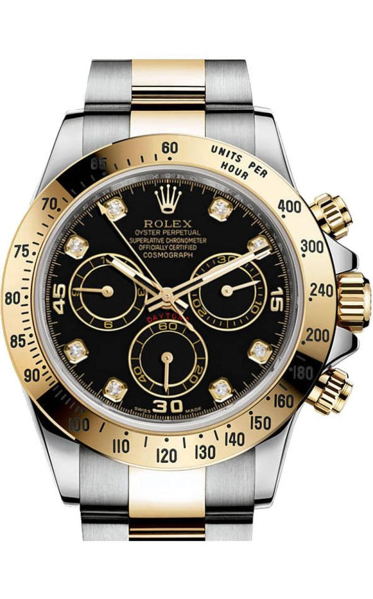 Rolex 116523 black diamonds Daytona Cosmograph. #rolex - золотые - швейцарские мужские наручные часы