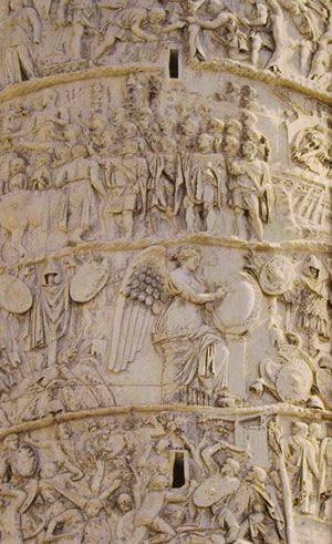 Roma,colonna Traiana . La Vittoria .
