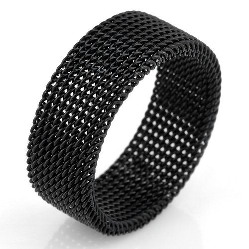 black mesh ring