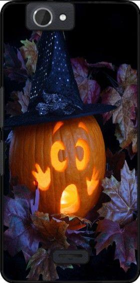 coque Citrouille Halloween qui a peur - idee cadeau pour Wiko Getaway