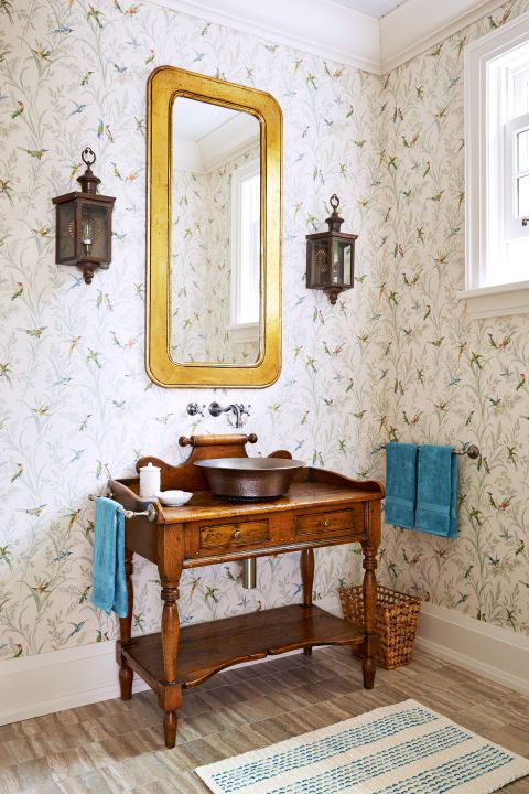 This sun drenched cottage will make you want a lake house for Lake cottage bathroom ideas