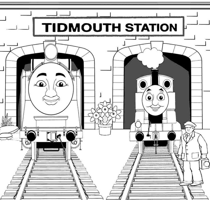 thomas coloring pages train engineer - photo#8