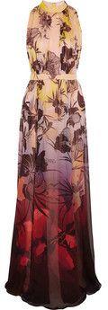 Matthew Williams - Bedruckte Robe aus Chiffon-Seide