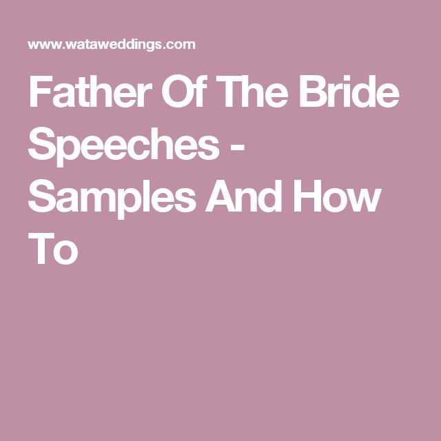 The  Best Father Of Bride Speech Ideas On   Groom