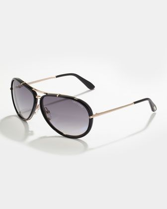 Cyrille Men's Aviator Sunglasses, Black/Gray by Tom Ford at Neiman Marcus.