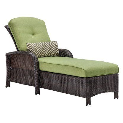 Hanover Strathmere Outdoor Luxury Patio Chaise Lounge - Outdoor Chaise Lounges at Hayneedle