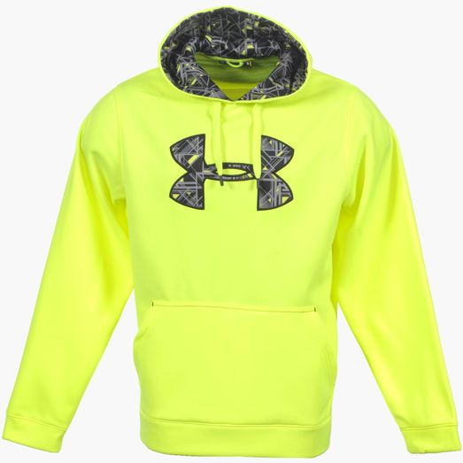 Lime green under armour hoodie