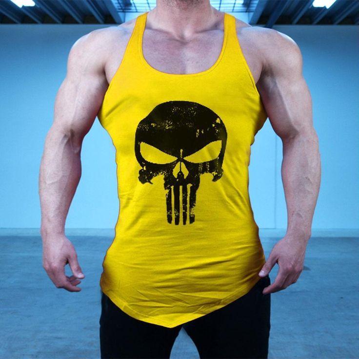 The Punisher 3D Skull Top Vest Bodybuilding Tank Sleeveless Cotton Sweatshirts  #ThePunisherChina #Fashion