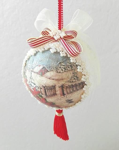 tinuszDecorArt / Guľa-čarovné vianoce